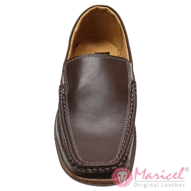 Pantofi barbatesti casual mocasini maro MAR-136