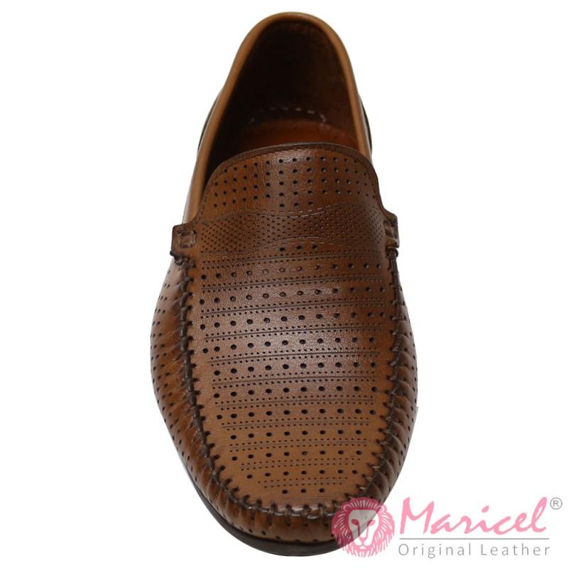 Pantofi barbatesti casual piele maro MAR-151