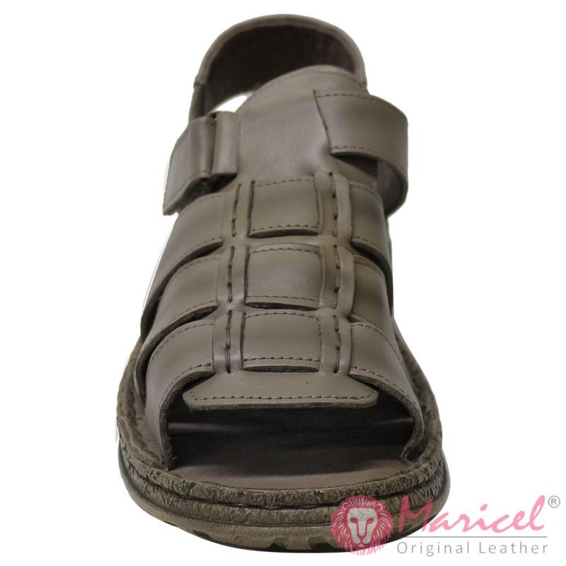 Sandale barbatesti din piele naturala gri MAR-177