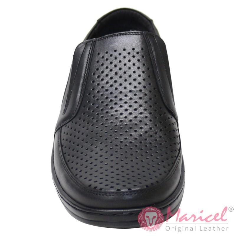 Pantofi barbatesti casual negri MAR-199