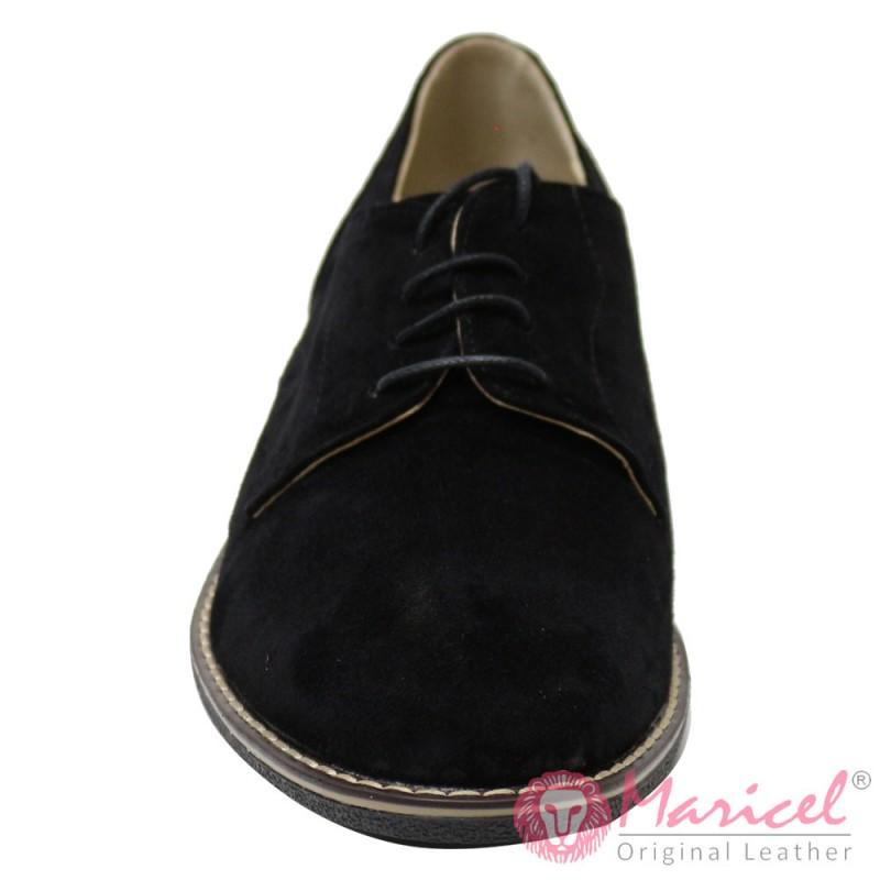 Pantofi barbatesti din piele naturala intoarsa MAR-51