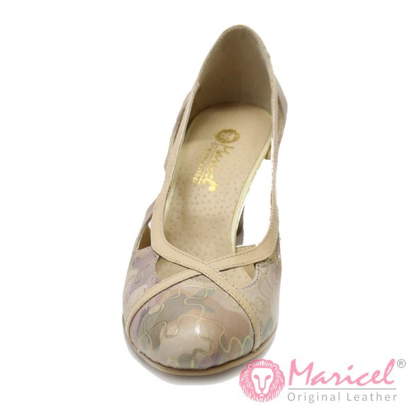 Pantofi din piele naturala MAR-04