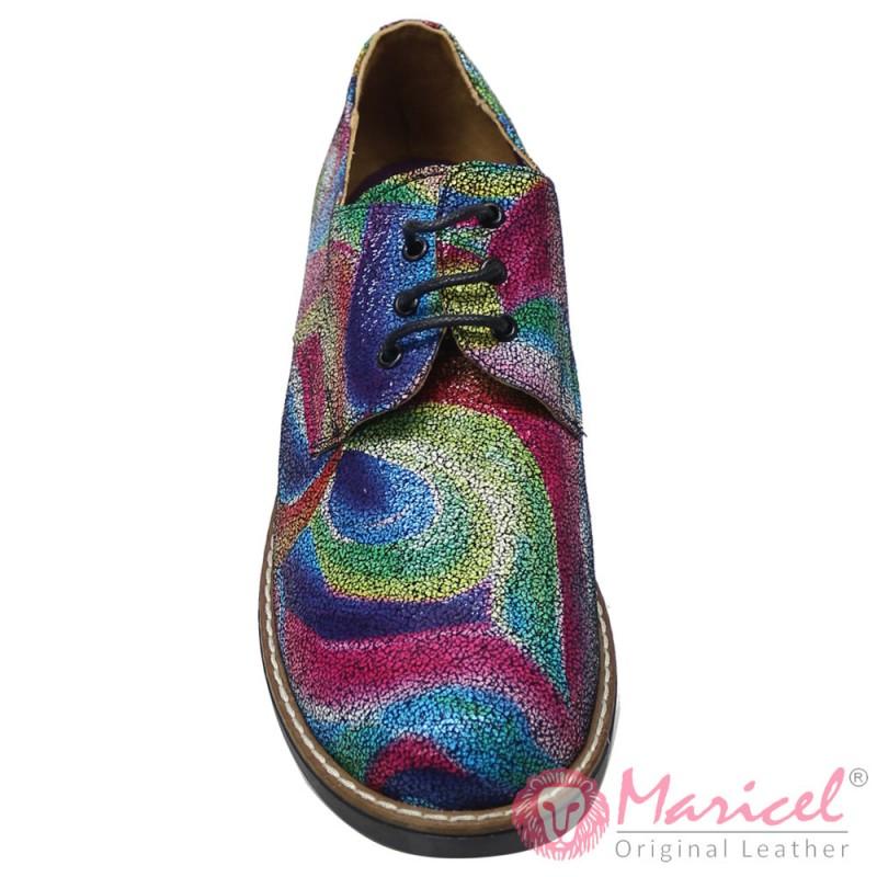 Pantofi dama casual din piele naturala imprimata MAR-127