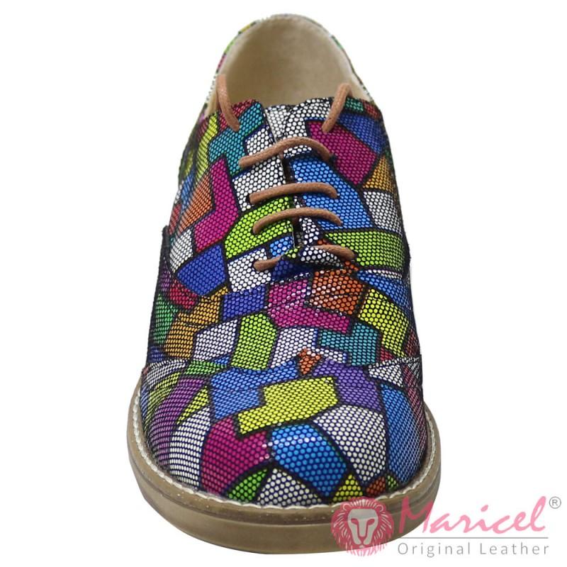 Pantofi dama casual din piele naturala bezel MAR-187