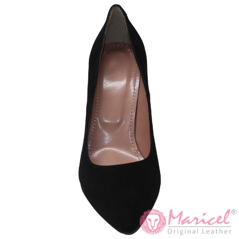 Pantofi dama stileto din piele naturala neagra MAR-196