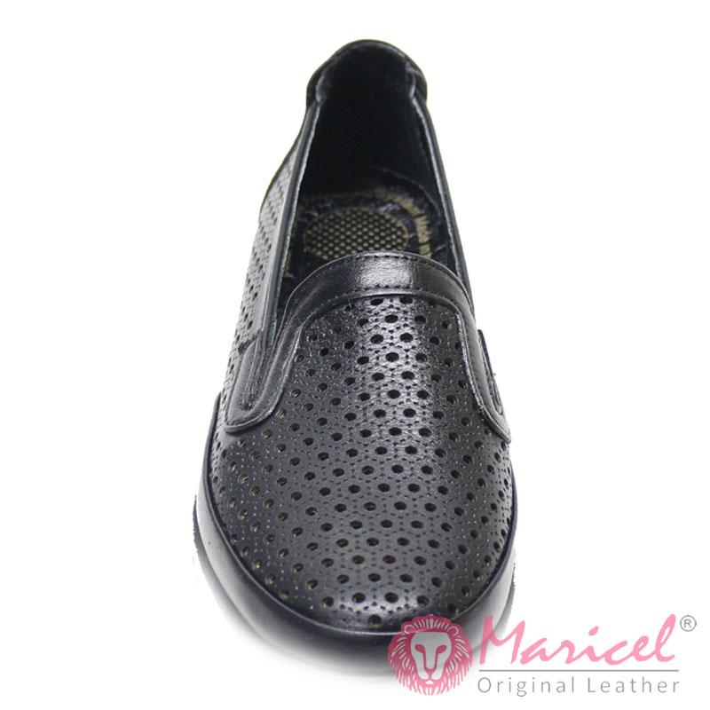 Pantofi dama casual din piele naturala perforata MAR-203