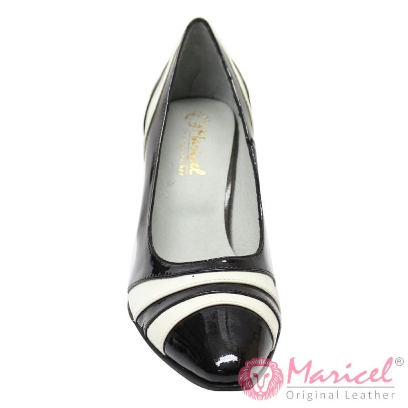 Pantofi dama din piele naturala lacuita MAR-39