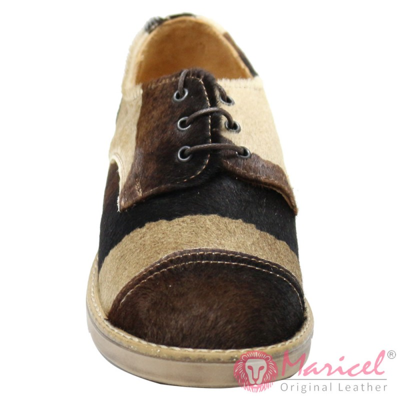Pantofi dama din piele intoarsa blanita ponei MAR-62
