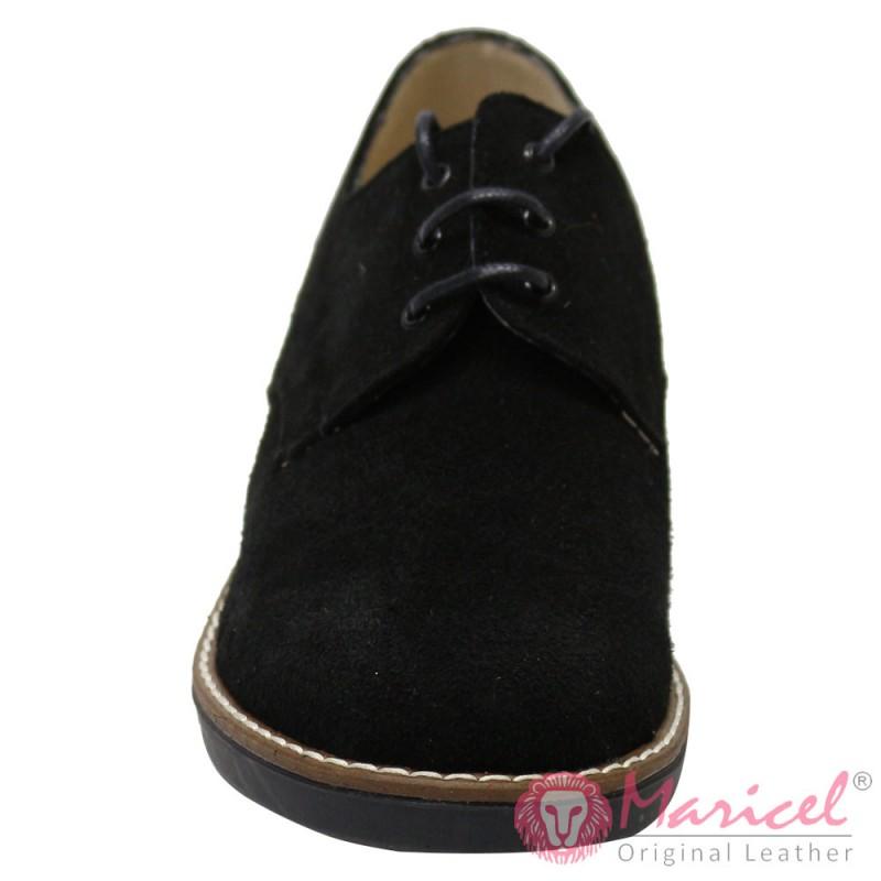 Pantofi dama din piele naturala intoarsa MAR-66