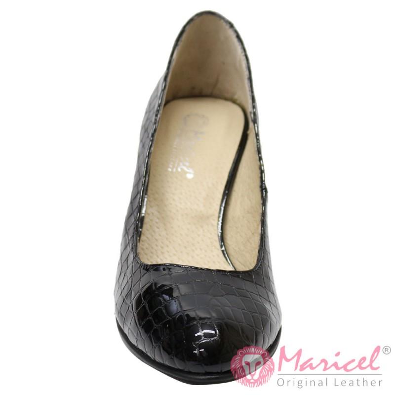 Pantofi eleganti din piele naturala CROCO MAR-68