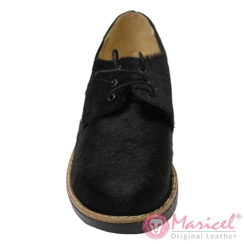 Pantofi din piele naturala blanita ponei MAR-82
