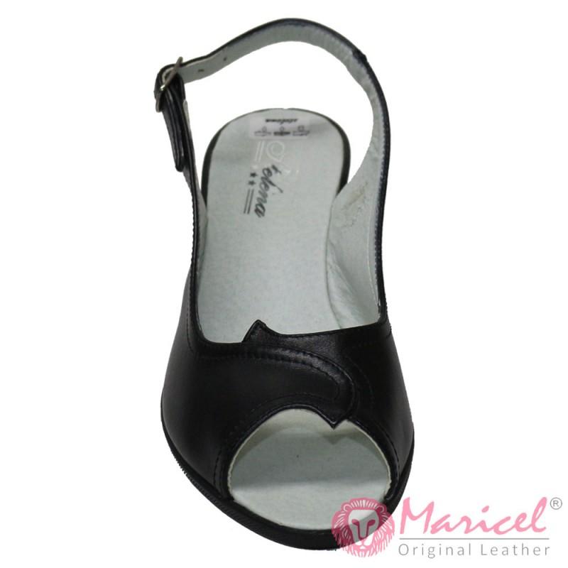Sandale dama din piele naturala neagra MAR-183
