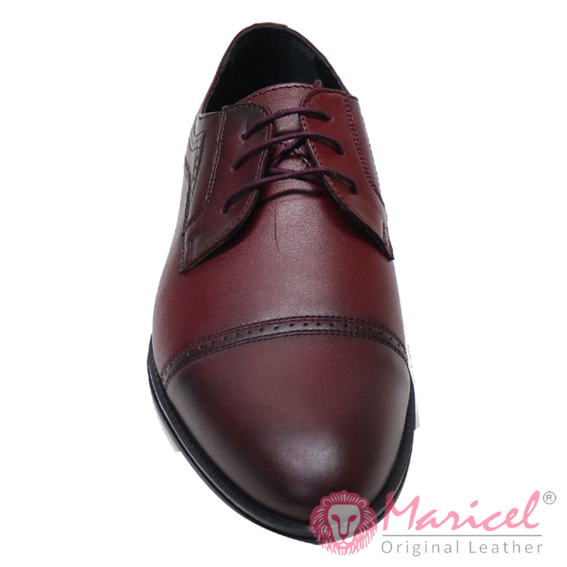 Pantofi barbatesti eleganti bordeaux MAR-206