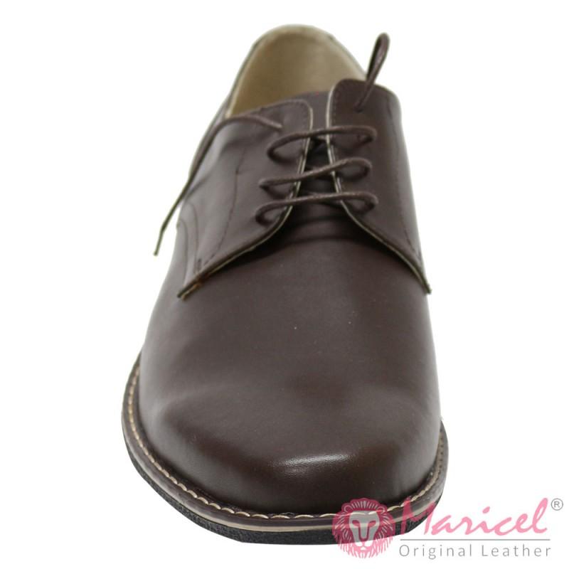 Pantofi barbatesti din piele naturala maro MAR-42