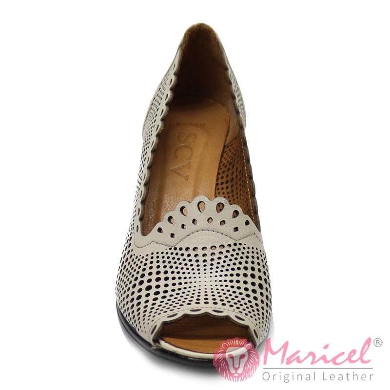 Pantofi dama casual din piele naturala perforata MAR-201