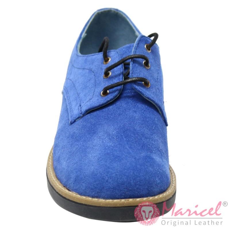 Pantofi dama din piele naturala intoarsa MAR-56