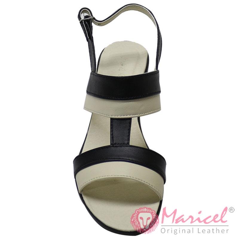 Sandale dama piele naturala bicolora MAR-215